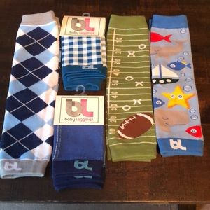5 pair lot of Baby Leggings/baby leg boots warmers